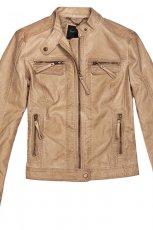 sk�rzana kurteczka Reserved w kolorze br�zowym - moda na wiosn� i lato 2013