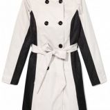 trencz Mohito w kolorze be�owo-czarnym - moda na wiosn� 2013