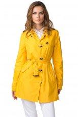 modny p�aszczyk Tommy Hilfiger w kolorze ��tym  - trendy na wiosn� 2013