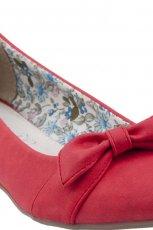 baleriny CCC z kokard� w kolorze czerwonym - obuwie dla kobiet 2013