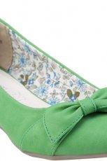 wiosenne baleriny CCC w kolorze zielonym - kolekcja na lato 2013