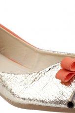 srebrno-pomara�czowe baleriny CCC - wiosna 2013