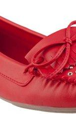 wiosenne mokasyny CCC w kolorze czerwonym - obuwie na wiosn� 2013