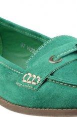wiosenne mokasyny CCC w kolorze zielonym - obuwie na wiosn� 2013