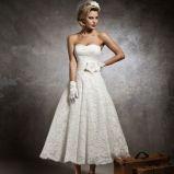 suknia �lubna Justin Alexander z kwiatem koronkowa