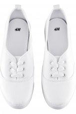 trampki H&M w kolorze bia�ym - wiosna 2013
