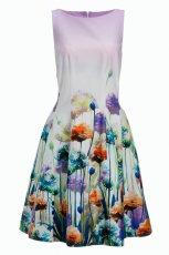 bia�a sukienka F&F w kwiaty - wiosna/lato 2013