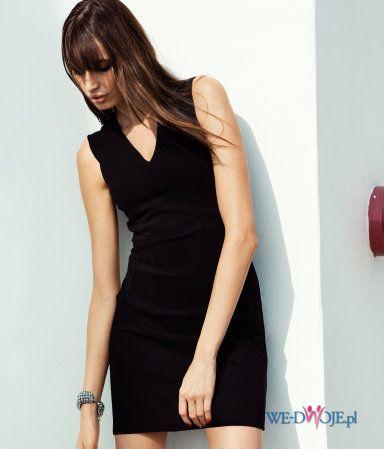 czarna sukienka H&M - wiosna 2013