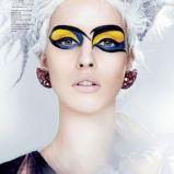 Niebiesko-��ty makija� oka