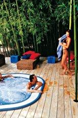 Wyj�tkowy basen ogrodowy w drewnie z hydromasa�em MAX-FLIZ 2013