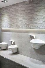 Stylowa �azienka w jasnych kolorach bieli i szaro�ci MAX-FLIZ 2013