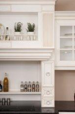 Modne meble kuchenne w kolorze ecru o subtelnym wzorze modna kuchnia