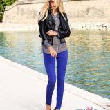 niebieskie rurki H&M  - trendy na wiosn�
