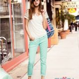 seledynowe spodnie H&M  - kolekcja wiosenna