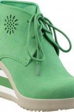 wiosenne na koturnie botki CCC w kolorze zielonym - obuwie na wiosn�
