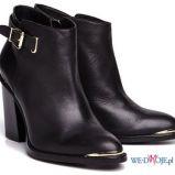 czarne na s�upku botki Reserved - obuwie na wiosn� 2013
