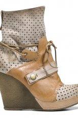 br�zowe na koturnie botki Badura - obuwie na wiosn� 2013