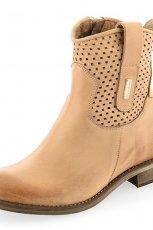 a�urowe botki Prima Moda w kolorze br�zowym - wiosna 2013