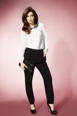bia�a bluzka TARANKO z ko�nierzykiem - z kolekcji wiosna/lato 2013