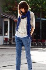 niebieskie spodnie H&M - wiosna-lato 2013