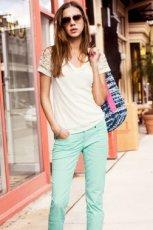 mi�towe spodnie H&M - wiosna-lato 2013