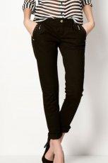 czarne spodnie Bershka - wiosna-lato 2013
