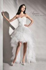 suknia �lubna Agnes Bridal Dream z falbankami asymetryczna