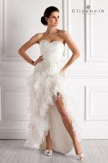 suknia �lubna Elizabeth Passion z falbankami asymetryczna