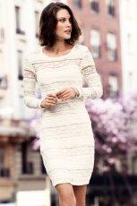 bia�a sukienka H&M koronkowa  - trendy wiosna/lato 2013