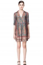 sukienka ZARA w etniczne wzory - wiosna/lato 2013