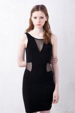 seksowna sukienka Pull and Bear w kolorze czarnym - moda 2013