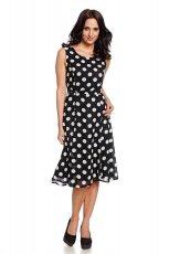 sukienka C&A w groszki w kolorze czarnym - lato 2013