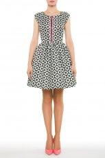 rozkloszowna sukienka Simple w kwiaty - lato 2013