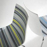 Unikalne nowoczesne krzes�o w kolorze popielatym w paski - trendy na 2013