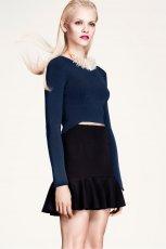 rozkloszowana sp�dniczka H&M w kolorze czarnym - wiosna i lato 2013