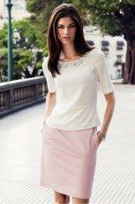 elegancka sp�dniczka H&M w kolorze jasnor�owym - moda na lato 2013