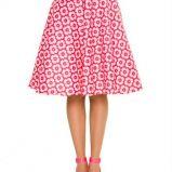 sp�dniczka Simple w kwiaty w kolorze r�owym - moda 2013