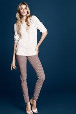 spodnie H&M w kolorze br�zowym - moda na wiosn� i lato 2013