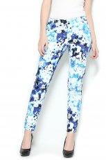 spodnie Orsay w kwiaty w kolorze niebieskim - spodnie na lato 2013