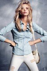 jeansowa koszula H&M - moda 2013