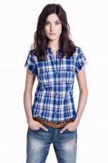 jeansowa z kr�tkim r�kawem koszula H&M - moda 2013