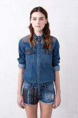 modna jeansowa koszula Pull and Bear - lato 2013