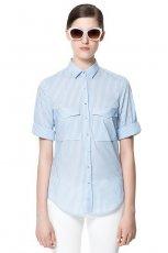 �liczna koszula ZARA w paski w kolorze niebieskim - trendy 2013