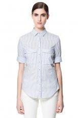 elegancka z kr�tkim r�kawem koszula ZARA - trendy na wiosn� 2013