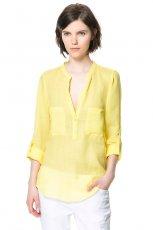 wiosenna koszula ZARA w kolorze ��tym - trendy na wiosn� 2013