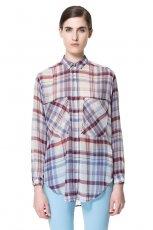 modna koszula ZARA w kratk� - moda 2013