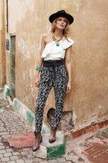 spodnie Mango we wzorki  - lato 2013