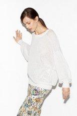 bia�y sweter ZARA - wiosenne stylizacje