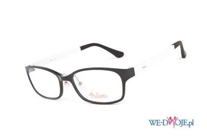 bia�o-czarne okulary Belutti