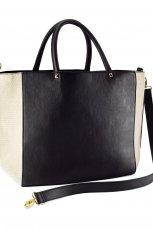 du�a torebka H&M w kolorze czarnym - kolekcja na lato